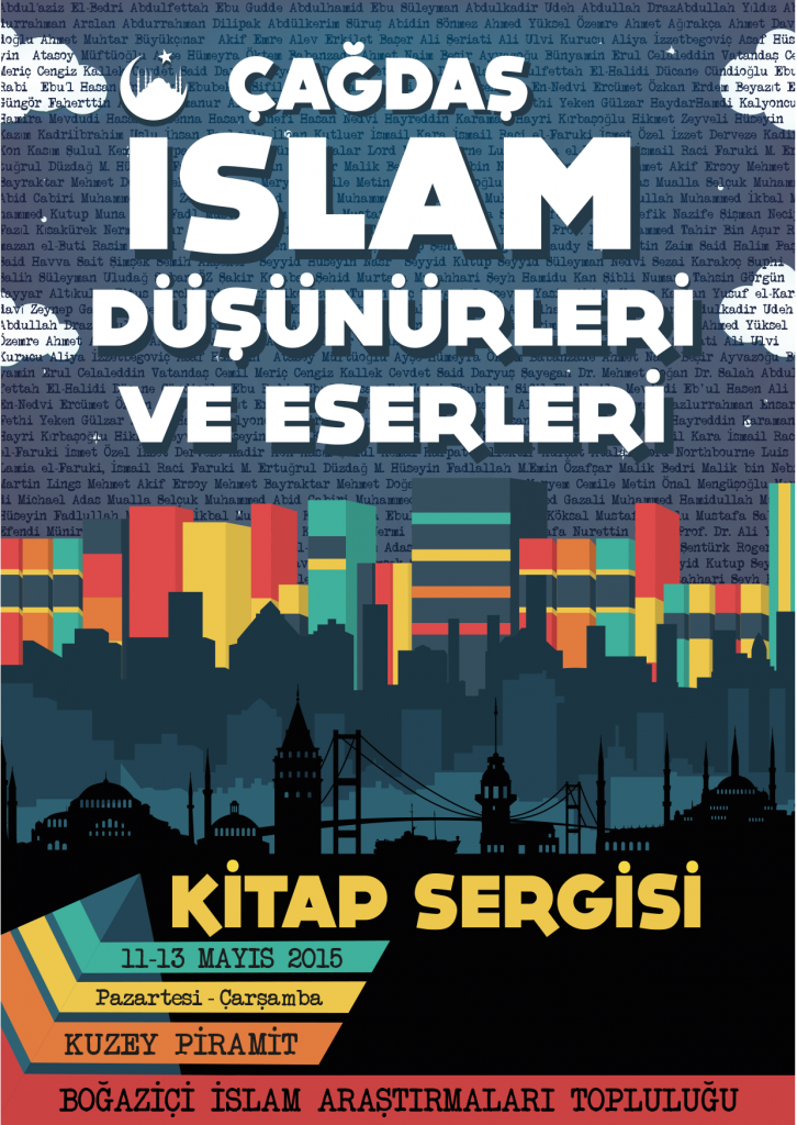 2015.05.11 Kitap sergisi - çağdaş islam düşünürleri - afiş