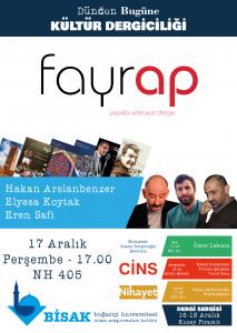 2015.12.17 Fayrap - Dünden Bugüne Kültür Dergiciliği Dergi Sergisi